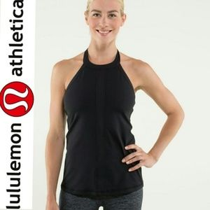 Lululemon Hip to be Zen Black Halter Tank Size 4